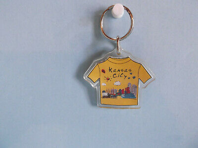 "Old Unique Collectible Keychains 2""in Plastic Kansas City"