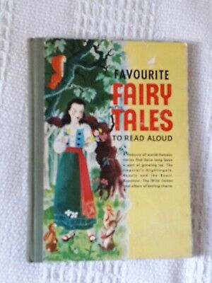 Favorite Fairy Tales to Read Aloud. Vintage 1958 Illustrated Childrens Book