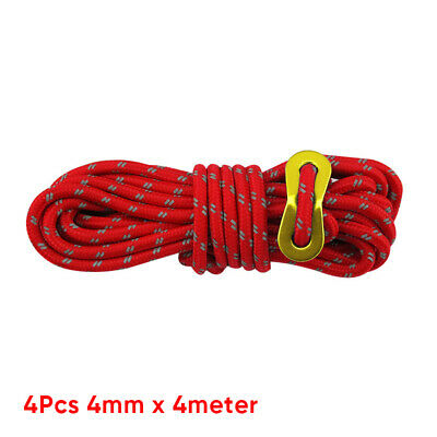 Camping Tent rope Hiking Guy Lines Reflective Multifunction 4 Metre.4mm