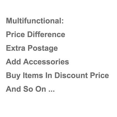 Extra Postage & Add Accessories & Price Difference & Buy Items In Discount Price