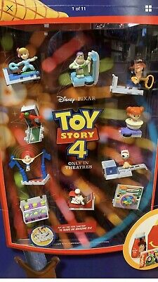 2019 Toy Story 4 Complete Set of 10 Toys McDonalds Happy Meal
