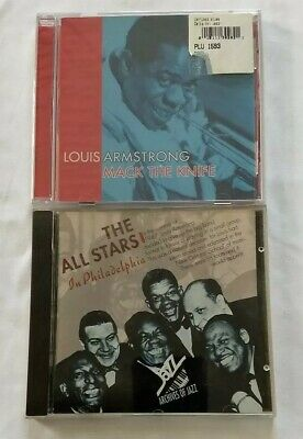 2 CD Lot ~ Louis Armstrong ~ Mack The Knife & The All Stars (used)