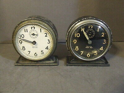 Pair Of Vintage Westclox Baby Ben Alarm Clocks For Parts/Repair