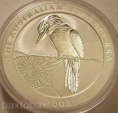 2008 AUSTRALIAN KOOKABURRA 1 oz .999 SILVER COIN  *BU*  Hard-To-Find!