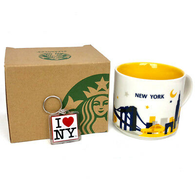 NYC Starbucks Mug New York City 14 Oz NY Mugs You Are Here Collection YAH in Box