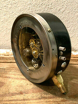 "Large 6"" One-Of-A-Kind Vintage MERCOID Pressure Gauge, Switch, Brass, Steampunk"