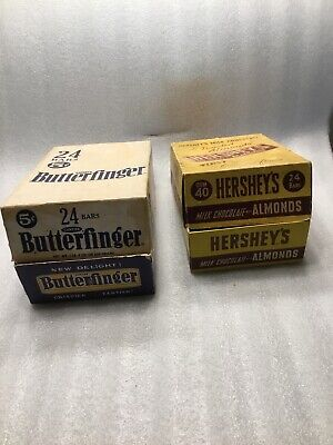 VINTAGE 1964 CURTISS BUTTERFINGER And Hershey's Chocolate ADVERTISING BOX