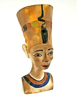 Stunning Nefertiti Bust Egyptian Antique Sculpture Bead Beautiful Figurine BC