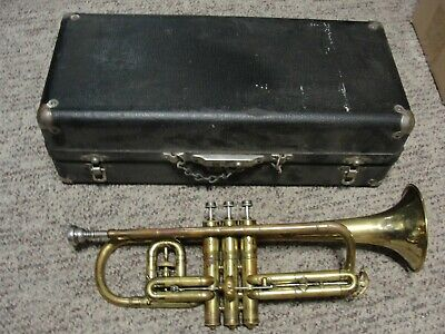 Old Trumpet - New Wonder Model- C. G. Conn With Case And Extras