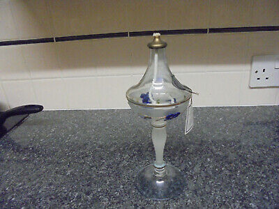 Nagel Glass of Germany Decorative Glass Oil Lamp