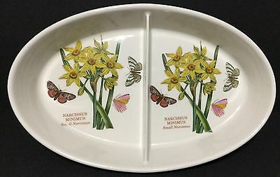 Portmeirion Oval Divided Dish The Botanic Garden Narcissus & Butterflies