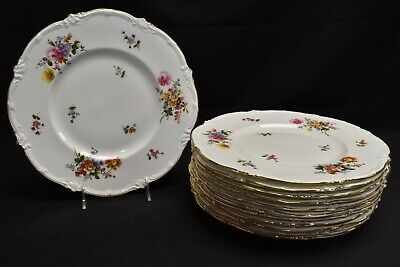 Royal Cauldon Marita Set of 12 Dinner Plates V9612