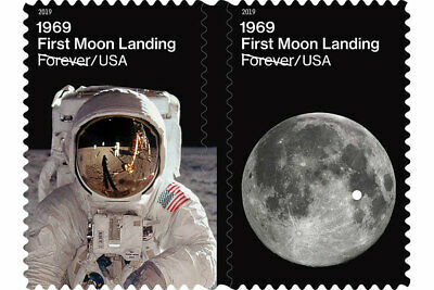 *NEW* US 1969 First Moon Landing - Forever - Pair of stamps - MNH - 2019