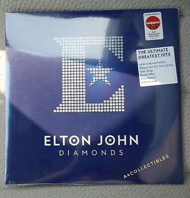 "Elton John Diamonds Blue Vinyl 12"" 2 Lp Target Exclusive New Sold Out In Hand Us"