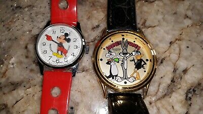 Vintage Armitron Bugs Bunny & Mickey Mouse Watches Watch
