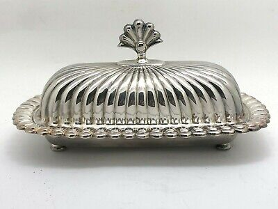 Forbes Silverplate Butter Dish With Glass Insert