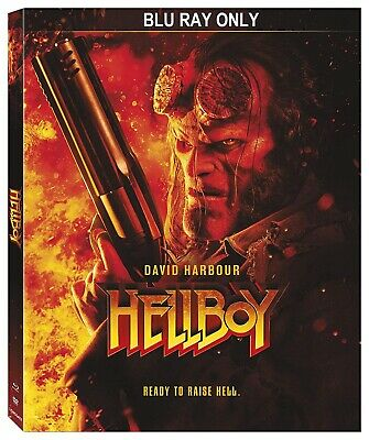 Hellboy (2019) BLU-RAY ONLY + CASE + ARTWORK **The disc has never been watched**