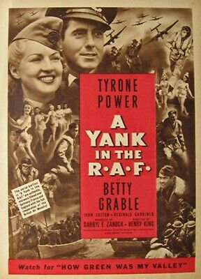 Vintage Movie 16mm A Yank in the R*A*F  Feature 1941 Film Drama Adventure WW2