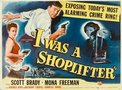Vintage Movie 16mm I Was A Shoplifter Feature 1950 Film Drama Adventure