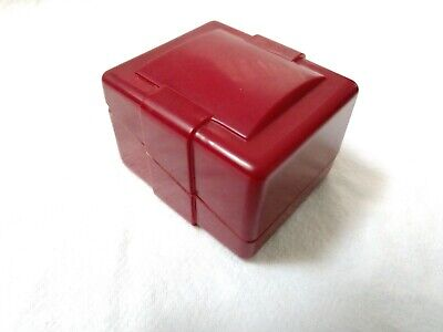 RARE Antique Vintage Art Deco Celluloid Ring Box Red and Gold USA Howes Jewelry