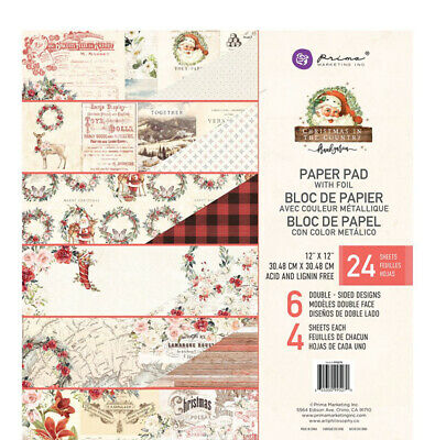 Prima Christmas in the Country Collection 12 x 12 paper pad 995270