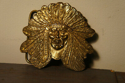 TIFFANY & CO Vtg  Buffalo Bill VINTAGE BELT BUCKLE CHIEF SITTING BULL OF SIOUX