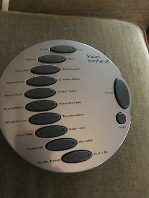 New Sharper Image Sound Soother 20 Sound Therapy SI677 Babies Room White Noise
