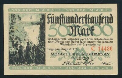 Germany: Weimar Republic LEIPZIG August 1923 500,000 Mark. Pick Unlisted