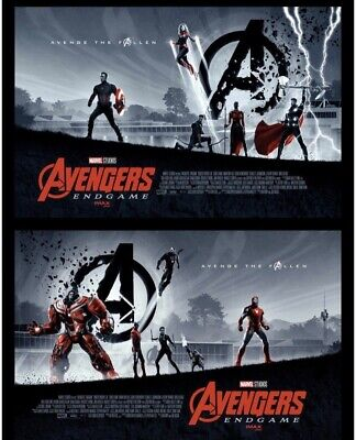 AVENGERS ENDGAME (2019) OFFICIAL IMAX AMC MOVIE THEATER POSTER Set (1 and 2)