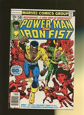 Power Man and Iron Fist 50 VF 7.5 * 1 Book * 1st Iron Fist Team-Up! Title Change