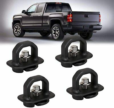 4 Pcs For Chevy GMC Silverado Truck Bed Cargo Tie Downs Tie Down Anchor Hooks
