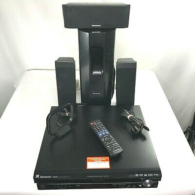 Panasonic SA PT750 Home Theater Surround System Receiver Speakers Remote Tested