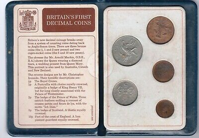 1971 FIRST DECIMAL COINS OF GREAT BRITAIN 5-coin set