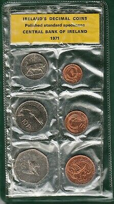 1971 UNCIRCULATED COIN SET from IRELAND 6-coin set
