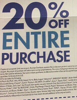 BED BATH & BEYOND: 20% Off Entire Purchase - Online / In-Store Code [8/25/19]