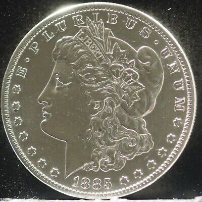 1885-S BETTER DATE MIRROR LIKE MORGAN SILVER DOLLAR 90% SILVER $1 COIN #i50