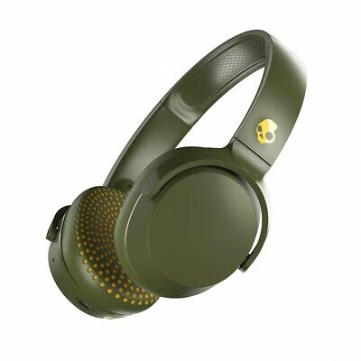 2019 NEW Skullcandy Riff Wireless Headphones Bluetooth OLIVE / MOSS S5PXW-M687-A