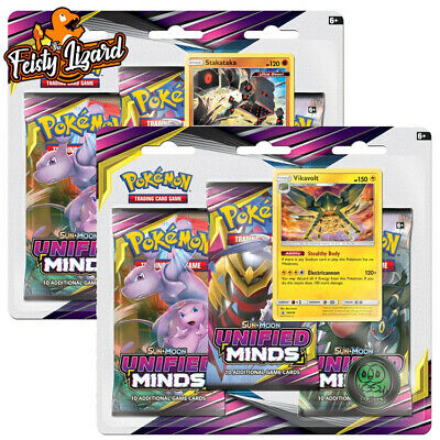 Pokemon TCG Sun & Moon Unified Minds 3 Pack Booster Blister (PREORDER)