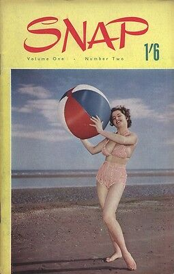 Rare vintage UK pocket size magazine from the 50s or 60s: Snap Vol. 1 No. 2