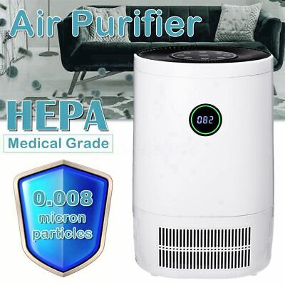 AUGIENB HEPA Auto Air Purifier Home Odor Dust Mold Pollen Smoke Remover Cleaner