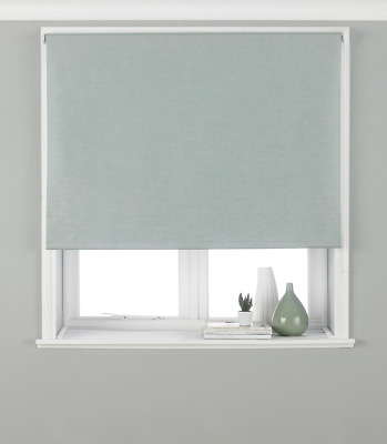 Riva Paoletti Eclipse Blackout Roller Blind - Duck Egg Blue - Ready Made - - - -
