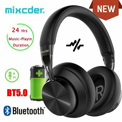 Mixcder Noise Cancelling Bluetooth Headphones Wireless Bass Stereo Headset E10