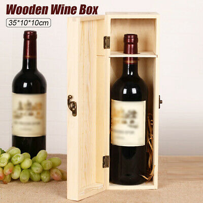 Wooden Red Wine Box Pine Wood Single Bottle Packing Box Gift
