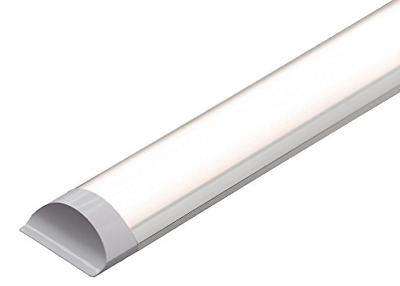 LED Batten Slimline Profile Wide Tube Warm White 3000K Available in 4ft 5ft 45W