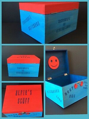 Personalised Deep Rectangular Wooden Boxes