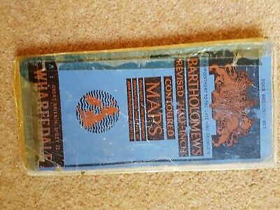 VINTAGE CLOTH BARTS ROAD MAP WHARFEDALE dates around 1925