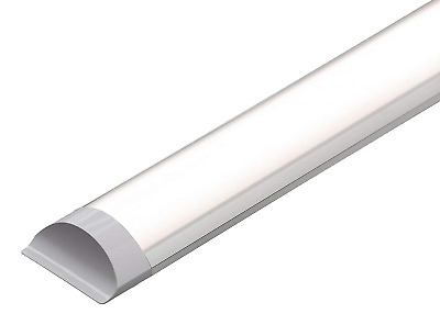 LED Batten Slimline Profile Wide Tube Day White 4500K Available in 2ft 4ft 5ft …
