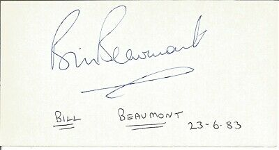Bill Beaumont CBE signed piece approx 6 x 5 3 inches. Rugby Player E1848