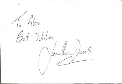 Jonathon Davies MBE signed dedicated card , Rugby Player E1843