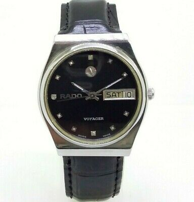 Vintage Men's Rado Voyager Day & Date Automatic Swiss Made Excellent Wrist Watch